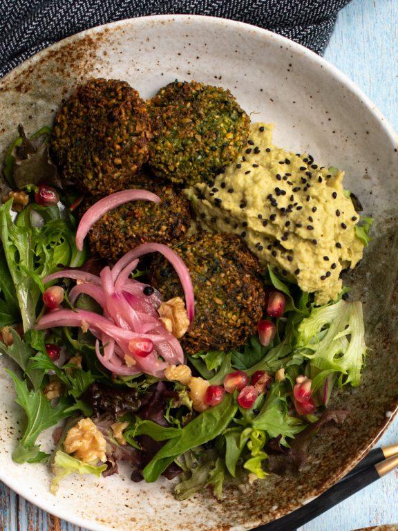 grøn falafel